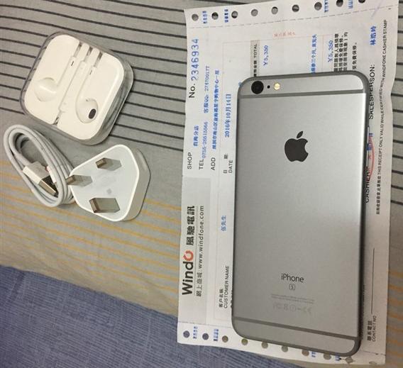 九成新 iPhone 6s plus 深空灰 64G
