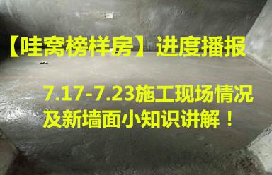 【哇窝榜样房】进度播报,7.17-7.23施工现场情况及墙面小知识!