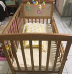 好孩子婴儿床+床垫转让
