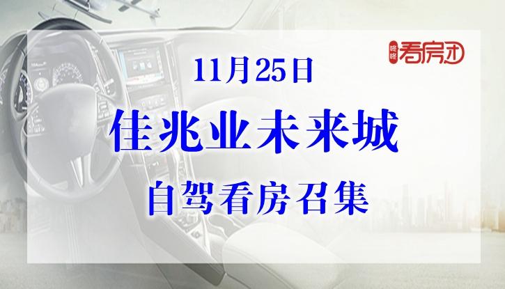 11月25日佳兆业未来城自驾看房召集