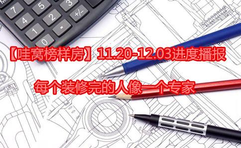 【哇窝榜样房】11.20-12.03进度播报,每个腾讯分分彩计划完的人像一个专家
