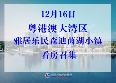 12月16日雅居乐民森迪茵湖小镇看房召集