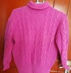 纯羊毛玫红毛衣.羊毛衫低价转让