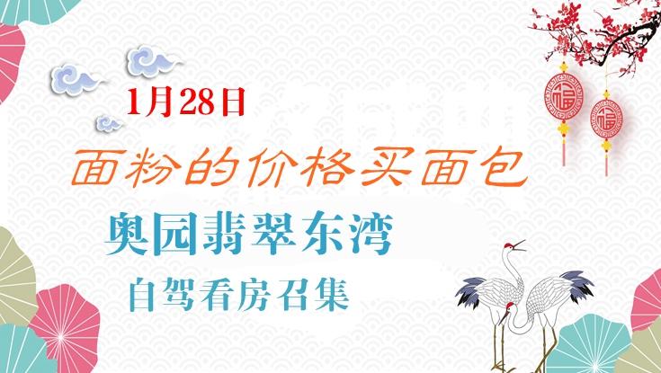 1月28日奥园翡翠东湾自驾看房召集