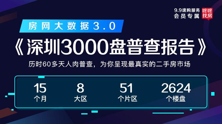 房网大数据独家首发《深圳3000盘普查报告》