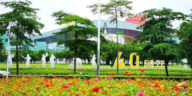 市民中心看花