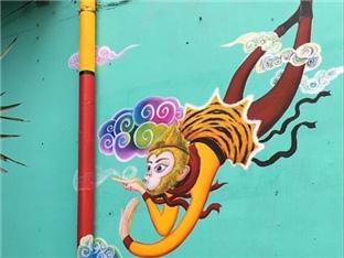 街头彩绘之彩虹玫瑰,看恋漫创作的打卡网红墙绘-咚咚地产头条